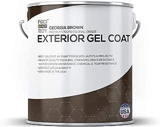 Georgia Brown Boat Paint, Exterior Gel Coat KIT, 1 Quart W/ 1 OZ MEKP, Fiberglass Coatings, Inc, Professional Marine GELCOAT Specialists, Boat Exterior Hulls, Boat Interior Decking, DIY Projects