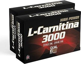 L Carnitina 3000-20 viales | Líquida | L-carnitina Con Vitamina C | Quemagrasas | Suplemento