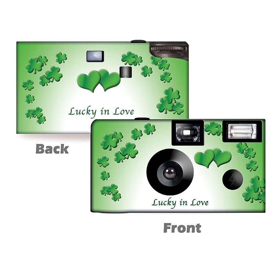 前覆すで5パックLucky in Love使い捨てカメラ、カメラ、結婚記念日カメラ、からcustomcameracollection wm-53285-c