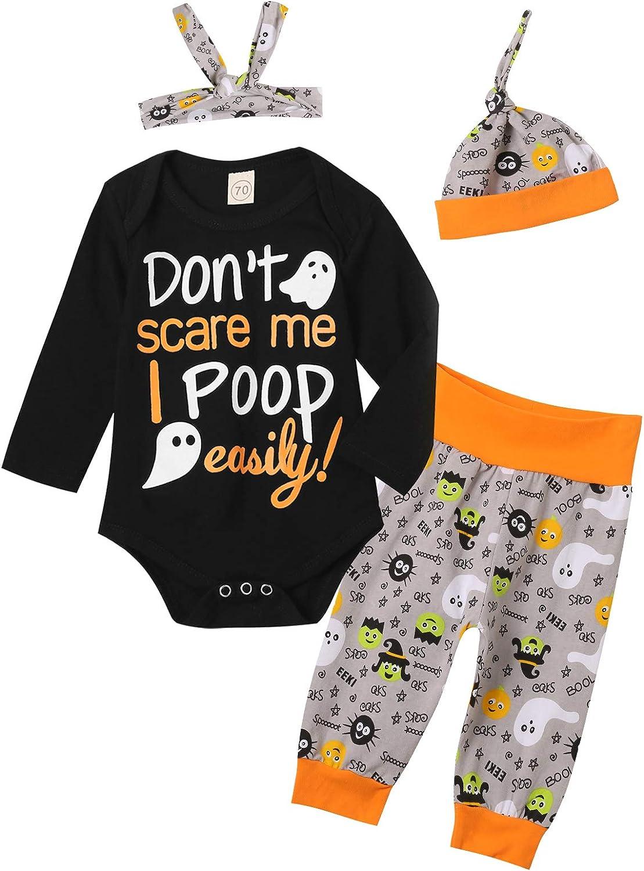 Detigee Baby Boy Halloween Outfit 1st Halloween Clothes Boys Halloween Bodysuit