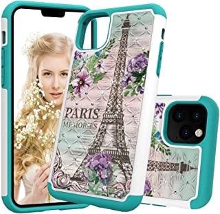 iPhone 11 Pro Max Case, Ankoe Luxury Glitter Sparkle 3D Diamond Studded Rhinestone Painted Series Heavy Duty Dual Layer Shockproof Hybrid Impact Defender Case for iPhone 11 Pro Max (Tower)