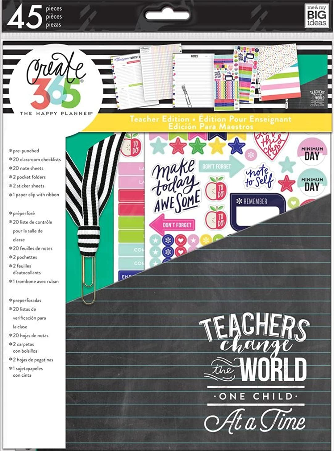 Create 365 The Happy Planner Back to School Teacher Accessory Pack Teachers Change the World (Fits BIG Sized Happy Planners) rjbmw482552