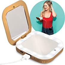 Compact Mirror with Power Bank 3,000mAh