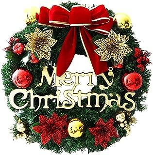2018 Merry Christmas Wreath Decor, Cuekondy Bowknot Berries Ornaments Garland Front Door Wreaths Indoor Outdoor Window Door Wall Hanging Decoration for Xmas Party Home Decor (C-30cm)