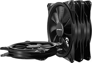 uphere 140mm Case Fan 3-Pack Computer Case Fan with Advanced Hydraulic Bearing for Silent Operation Standard 140 mm Case Fan 3 Pack with 3 Pin & Molex /(BK143-3)