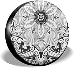 Sugar Flower Skull Car Tire Cover Rainproof Protective Cover Cape Water Proof Universal Spare Wheel Tire Cover Fit for Trailer RV SUV and Various Vehicles Belleeer Spare wheel cover