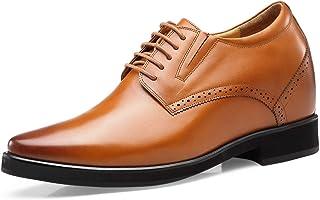 CHAMARIPA Zapatos con Alzas Hombre 10cm - Zapatos Oxfords para Hombres con Cuero Interior Elevado para Aumentar la Altura