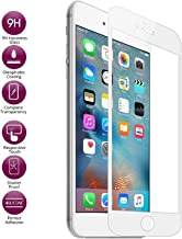 Josi Minea [ iPhone 6/6S ] Tempered Glass Ballistic LCD Screen Protector Full Cover Screen Guard Film Premium HD Shield for Apple iPhone 6 / 6S (4.7-inch) - White
