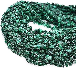 GemmartUSA Natural Malachite Chip Beads Natural Stone Bead1 Strand 34 inch Jewelry Making Supplies (CHMC-70001)