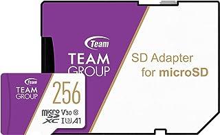 Team microSDXCカード 256GB 高速転送UHS-1 U3 V30 A1対応 日本国内10年保証 SD変換アダプター付属 正規品
