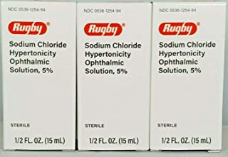 Rugby Sodium Chloride Ophthalmic Solution Eye Drops 5% 15mL