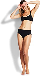 Seafolly Women's Pintucked Wide Side Retro Bikini Bottom Swimsuit