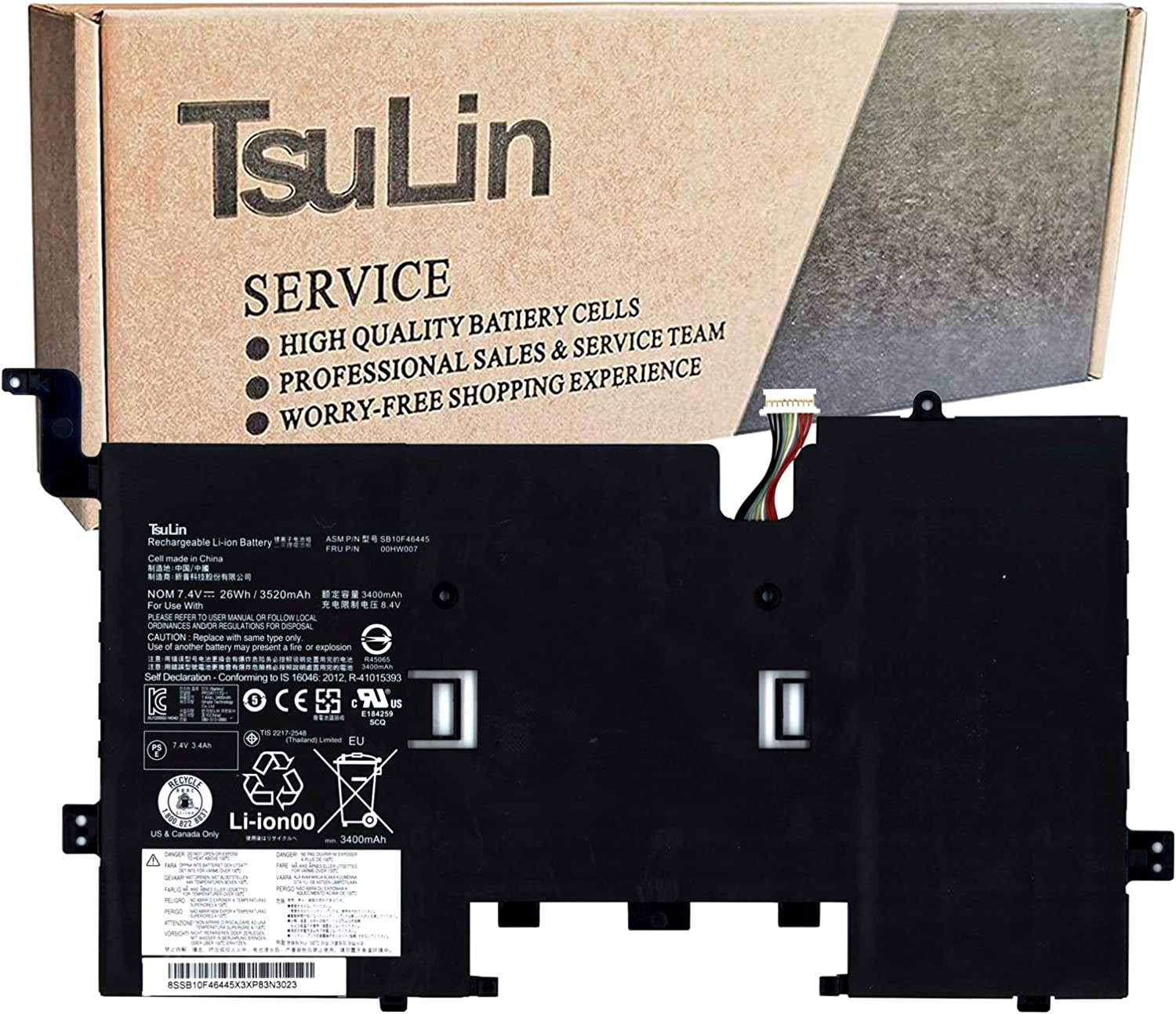 online Popular overseas shop TsuLin 00HW007 Laptop Battery Compatible ThinkPad Lenovo with He
