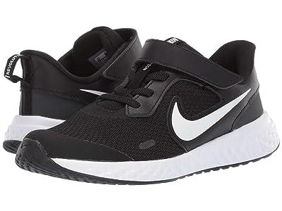 Nike Kids Revolution 5 (Little Kid) (Black/White/Anthracite) Boys Shoes