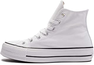 Converse Ctas Lift Hi Black/White, Sneaker a Collo Alto Unisex – Adulto