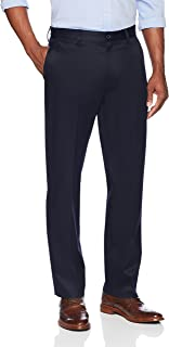 Buttoned Down Men's Standard Relaxed Fit Flat Front Non-Iron Dress Chino Pant