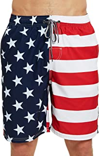 american flag embroidered shorts