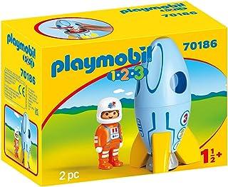 Playmobil 1.2.3 70186 Astronaut Met Raket