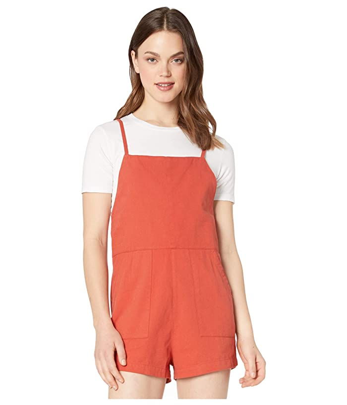 RVCA  Johan (Hot Coral) Womens Jumpsuit and Rompers One Piece