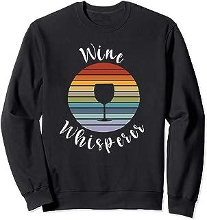 Wine Whisperer Retro Wine Lover Gift 70's Sunset May Contain Sweatshirt