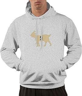 Men's Funny Drew-Brees Goat Hooded Sweatshirt Gray