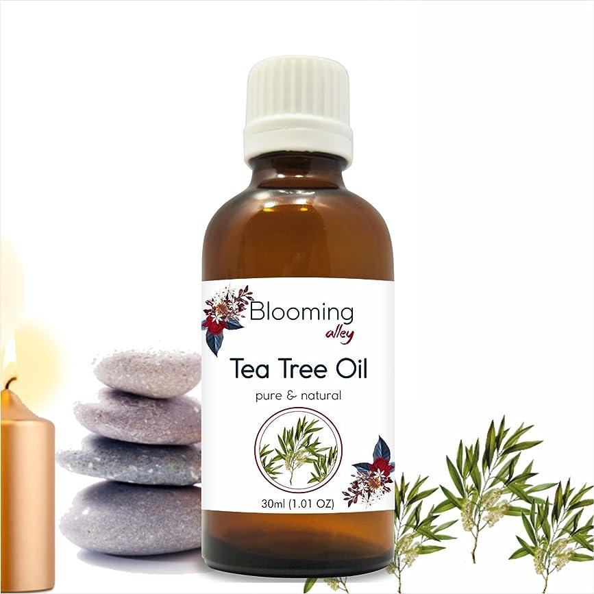 クラシック先行する不注意Tea Tree Oil (Melaleuca Alternifolia) Essential Oil 30 ml or 1.0 Fl Oz by Blooming Alley