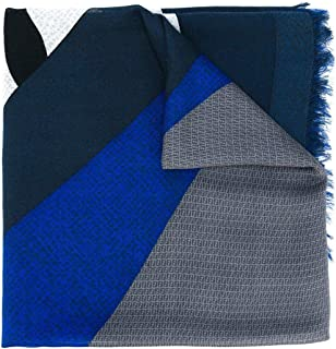 Luxury Fashion | Fendi Mens FXS2966X7F0QZ0-MCF Blue Foulard | Season Permanent