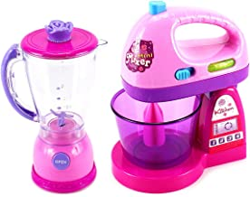 Happy Kitchen Blender and Mixer Kitchen Appliances Toy Set for Kids with Light Up Swirling Colors