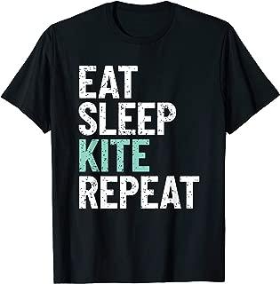 Eat Sleep Kite Repeat Kiteboard Kitesurf T-Shirt