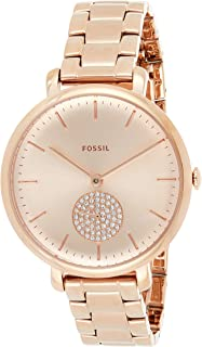 Fossil Women's ES4438 Round Dial Case Rose gold Stainless Steel watch