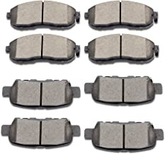 SCITOO Ceramic Disc Brake Pads Set fit Infiniti G35 Nissan 350Z 2003-2005