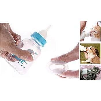 ADIOS Dog Puppy Cat Kitten Care Water Milk Nursing Feeding Bottle with Nipple Brush Feeder Tool 150ml Multi-Colored