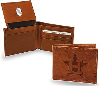 Rico Industries Houston Astros New Logo Wallet Premium Brown Leather Billfold Bifold Baseball