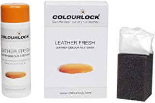 Colourlock Leather Fresh Dye DIY Repair Colour Restorer for Scuffs and Small Cracks on car interiors 150 ml Compatible with BMW Sakhir Orange