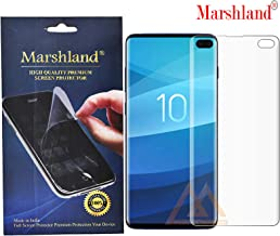 Marshland 3D Front Screen Protector Flexible Bubble Free Anti Scratch Screen Guard Compatible for Samsung Galaxy S10 Plus (Transparent)