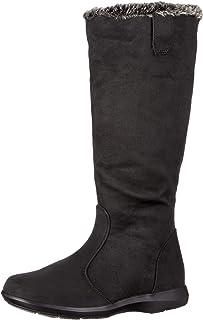 [マインリラックス] 透湿防水ロングブーツ フィットするインソール 2.5cmヒール 足幅ゆったり4E MIW 2080 レディース ブラック