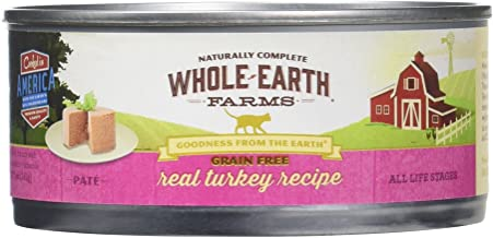 product image for Whole Earth Farms 295245 Grain-Free Real Turkey Recipe Pate Wet Cat Food, One Size
