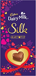 Cadbury Dairy Milk Silk Heart Pop Bar, 250g- Pack of 2