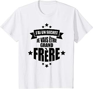 Enfant j'ai un secret je vais être grand frère annonce grossesse T-Shirt