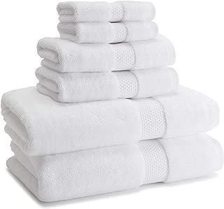 Kassatex Atelier 18 Piece Towel Set, Made in Turkey- 100% Turkish Cotton - White