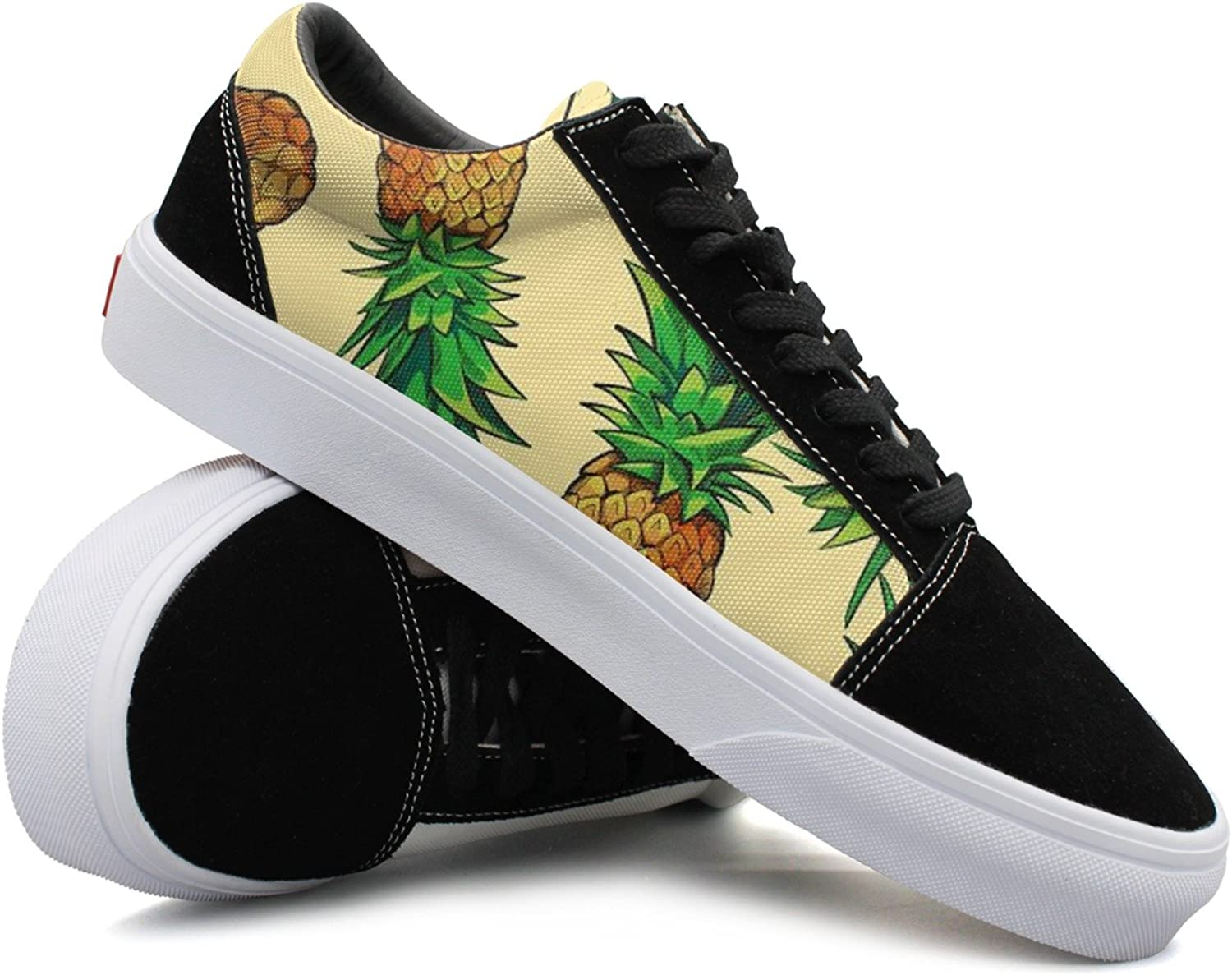 Cool Pineapple Graphics Women Casual shoes Sneakers Boat Cool Low Top Trainers