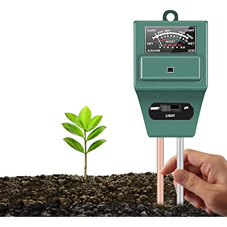 Bowtus Soil PH Tester 3 in 1 Kit, Plant Soil Testing Kit With Moisture Test, Light Test and PH Test, Great For Garden Care, Lawn, Bonsai Tree, Farm, Indoor&Outdoor Use (Battery Free)
