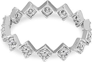 خاتم خطوبة ماسي من لاب نمت للنساء، خاتم فاخر من الألماس 1/8 قيراط مختبر مكون من خواتم الماس SI-GH جودة 10K خاتم الماس