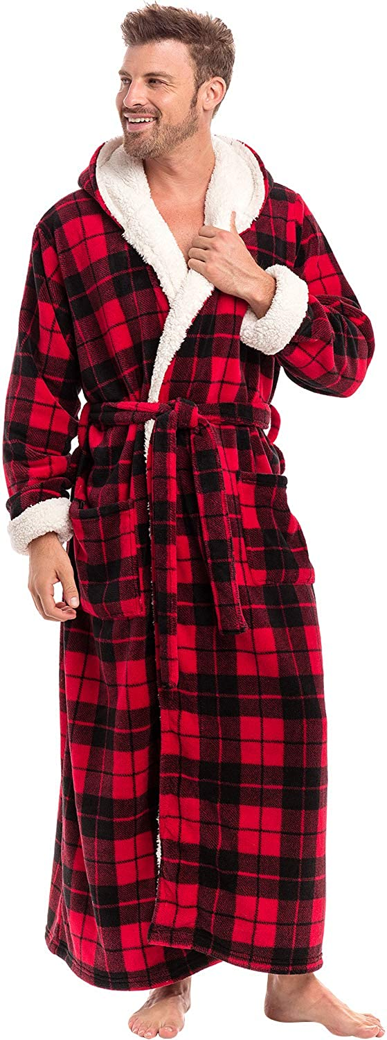 Alexander Del Rossa Men's Warm Fleece Online limited Ranking TOP5 product Hood with Plush Robe Sher