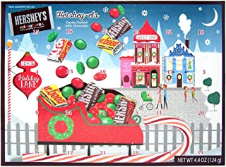 Hershey Miniatures and Candy Coated Milk Chocolate Pieces Filled 2019 Christmas Advent Calendar, 4.4 Ounce