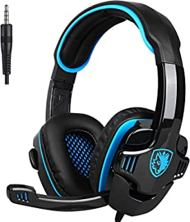 SADES SA708GT Gaming Headset for Xbox One, PS4, PC, Volume Controller, Noise Cancelling Over Ear Headphones Mic, Bass Surr...