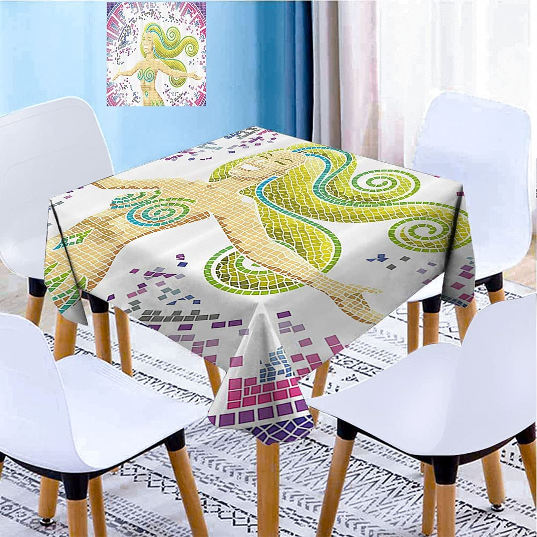 Modern Decor Square Table Sale item New Orleans Mall Cloths Ombre Room Kids Pattern Mosaic