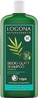 LOGONA Naturkosmetik Seidig-Glatt Shampoo Bambus, Erhöht den Glanz & die Elastizität, Anti-Frizz-Effekt, Glättet strapazierte Haarstrukturen, Mit Bio-Pflanzenextrakten, 250ml