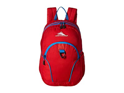 High Sierra Mini Loop Backpack (Crimson/Sport Blue) Backpack Bags