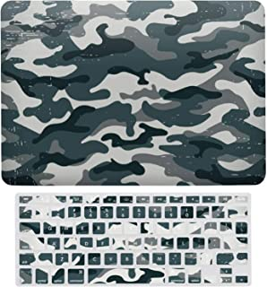 MacBook Air 13 Inch (US Version: A1466、A1369) Laptop Case, Set of Plastic Hard Shell Case with Keyboard Cover, Camouflage